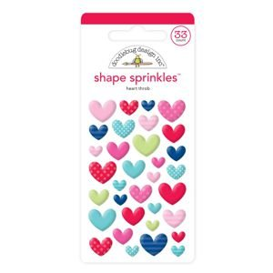 Doodlebug - Heart Throb Shape Sprinkles