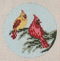 Cardinal Couple Ornament
