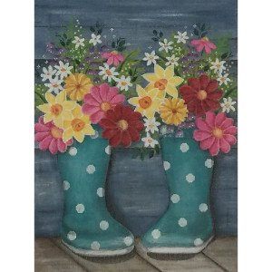 Rainboots and Flowers-Alice Peterson