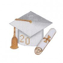 White Graduation Cap