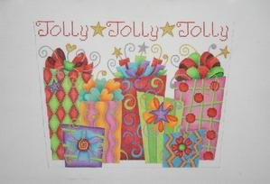 Jolly Packages Stocking Topper