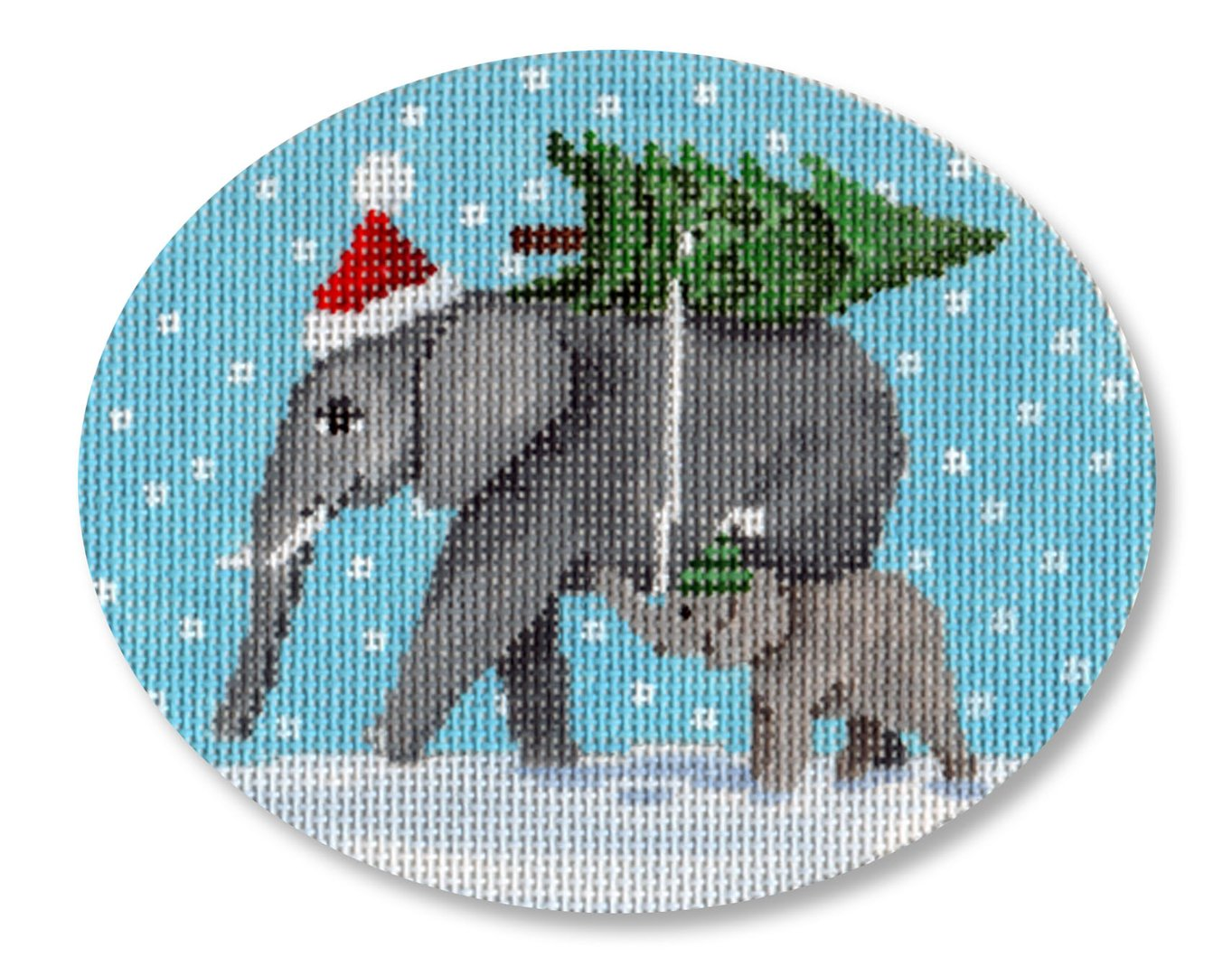 Elephants Bringing Home the Tree