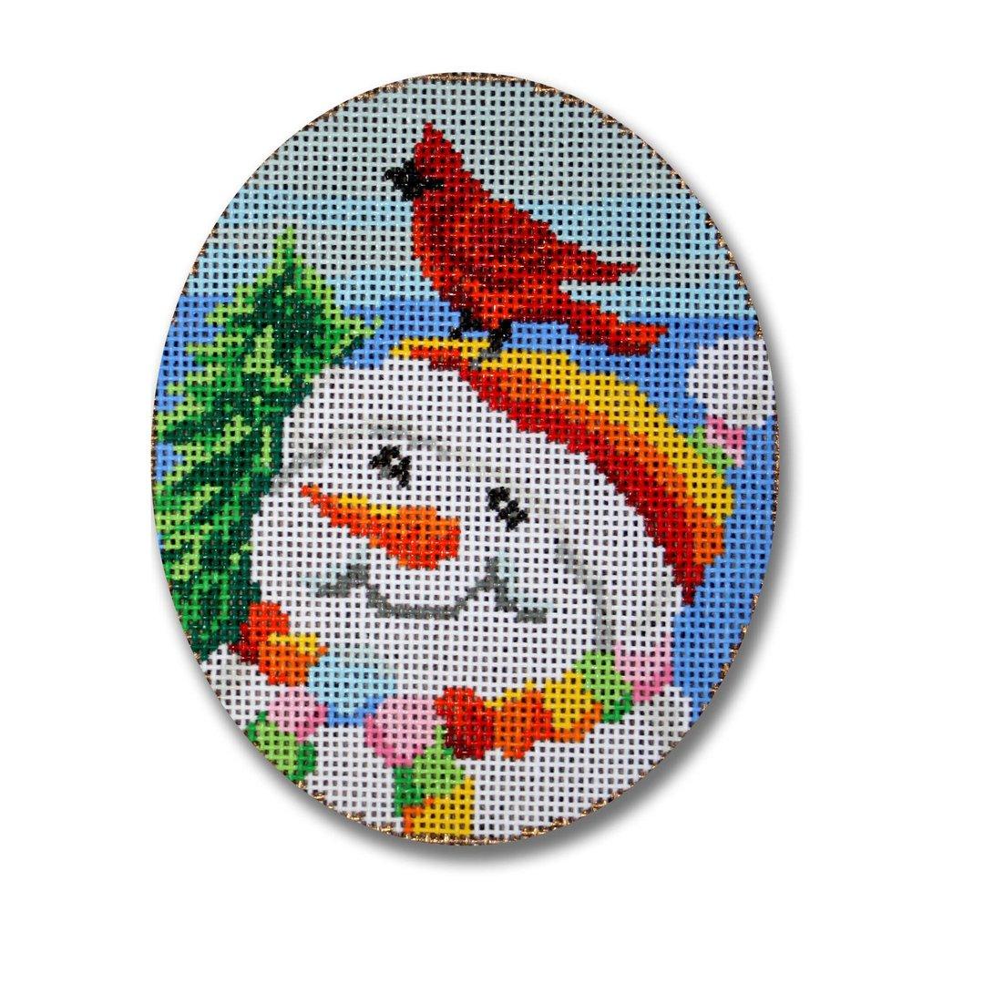 Snowman & Cardinal