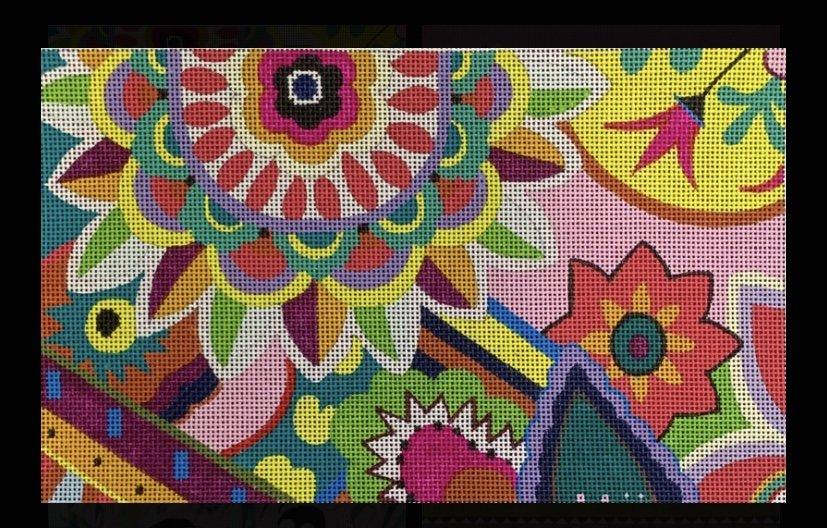 1500 Series Floral Clutch