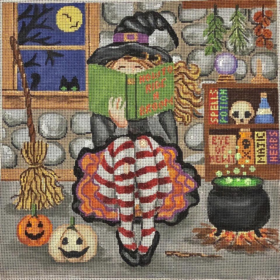 Witch Stitching Girl