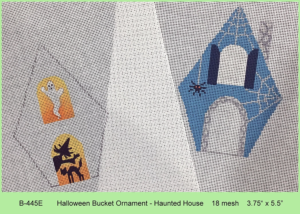 Halloween Haunted House Bucket with Stitch Guide