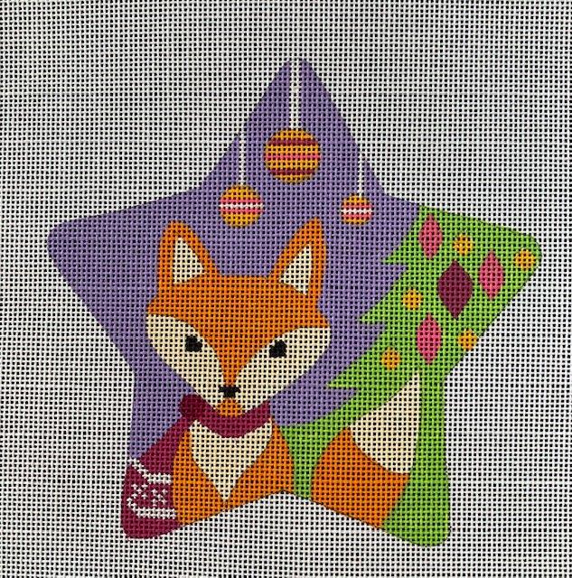 Fox Star on Purple