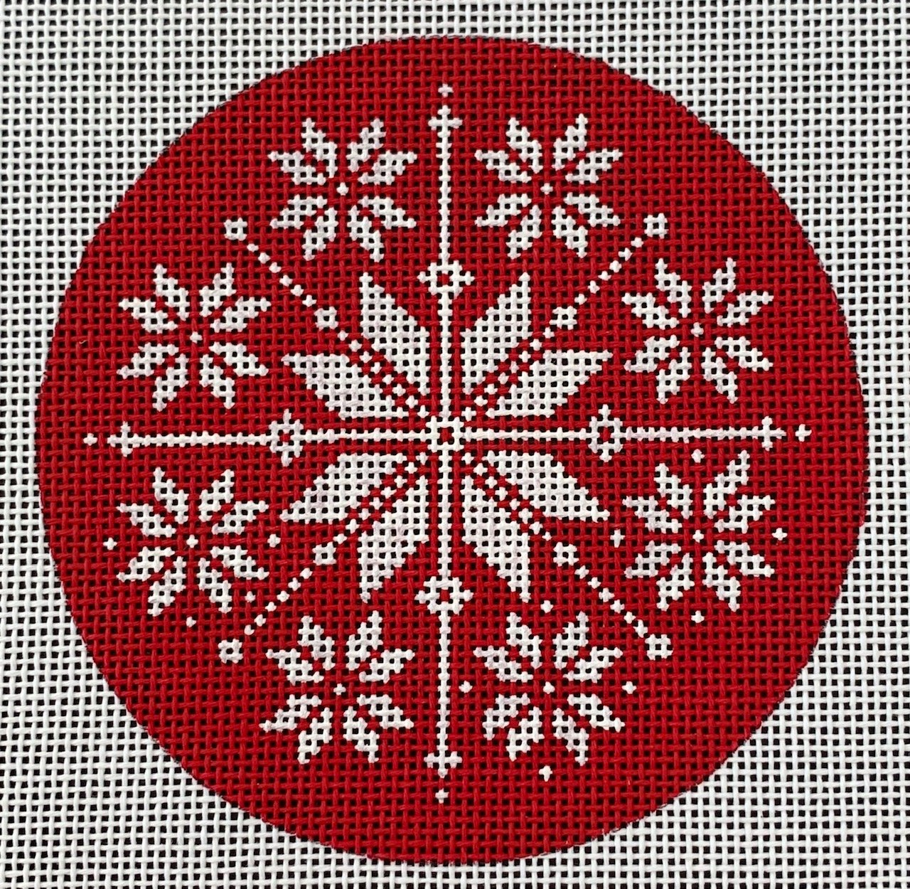 Red and White Nordic Snowflake