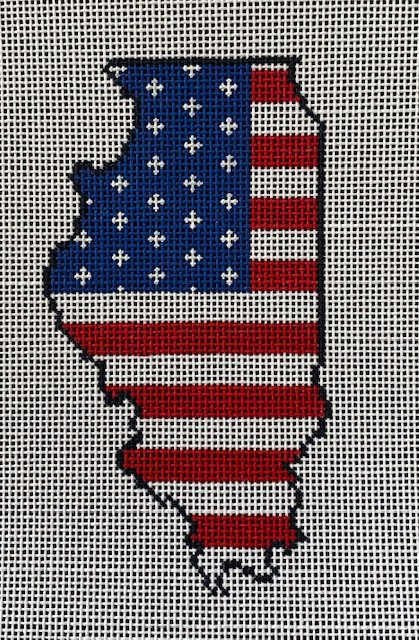 State of Illinois American Flag