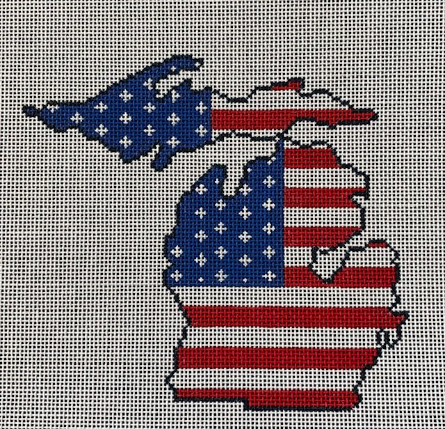 State of Michigan American Flag