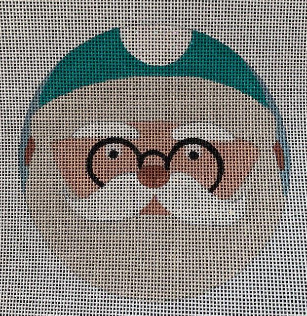 Green Hat Santa