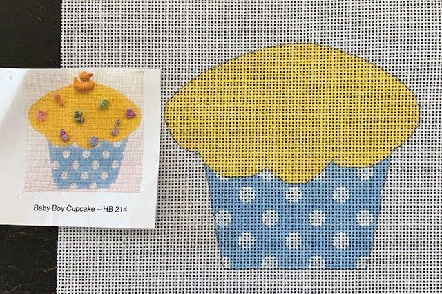 Baby Boy Cupcake