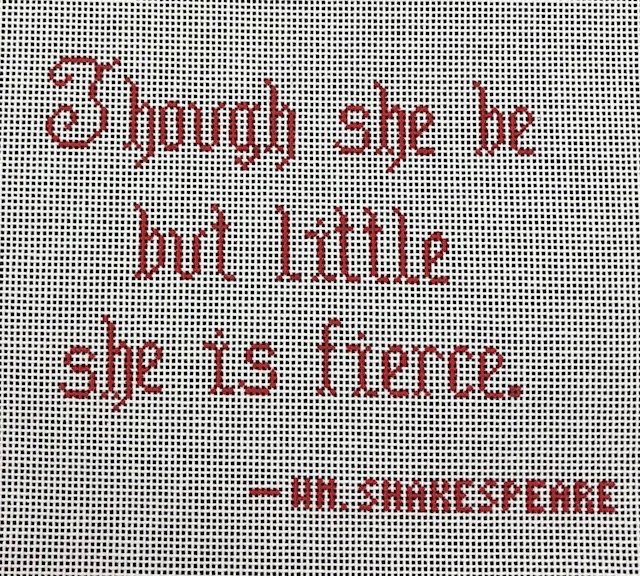 Though She But Little