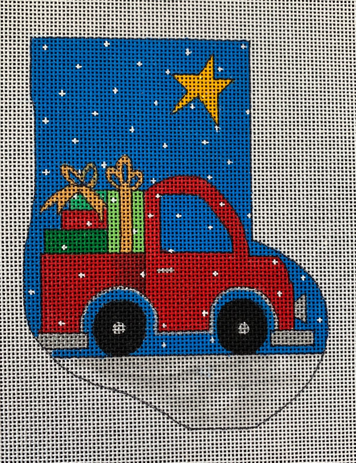 Red Truck Mini Stocking *