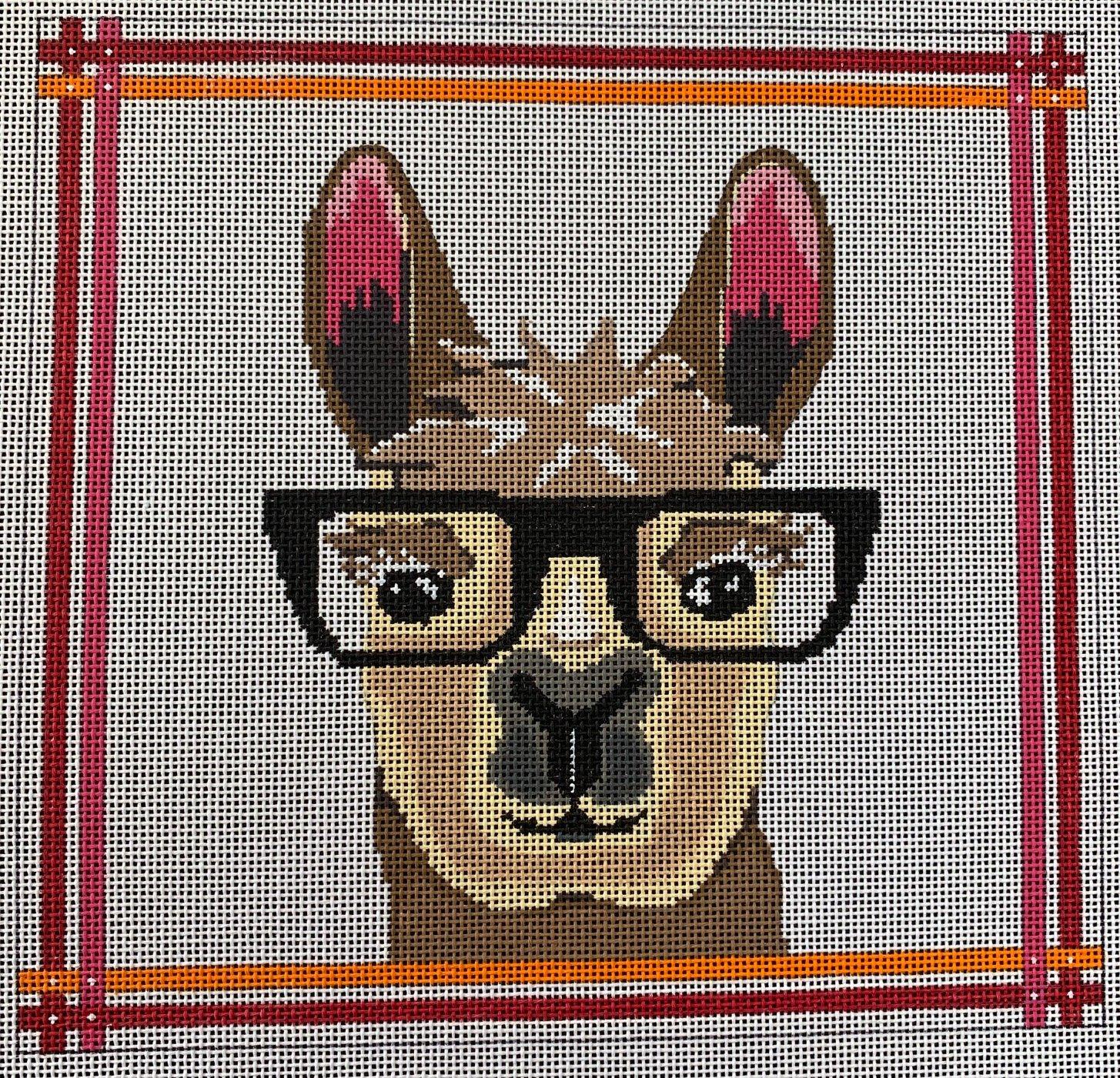 Llama with Glasses