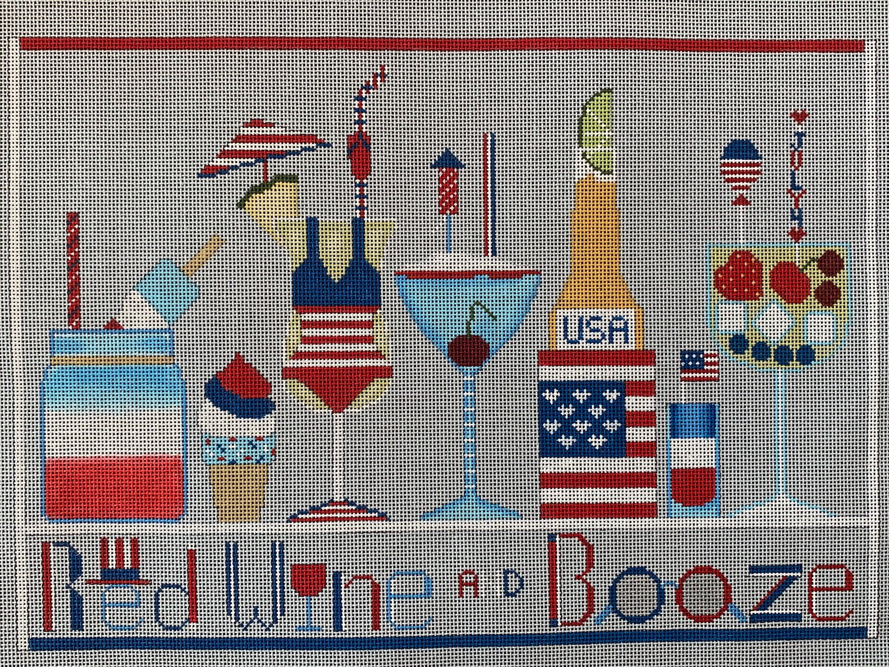 Red, White, and Booze with Stitch Guide
