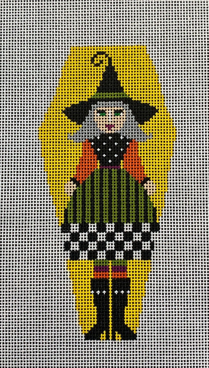 Witch Girl on Yellow