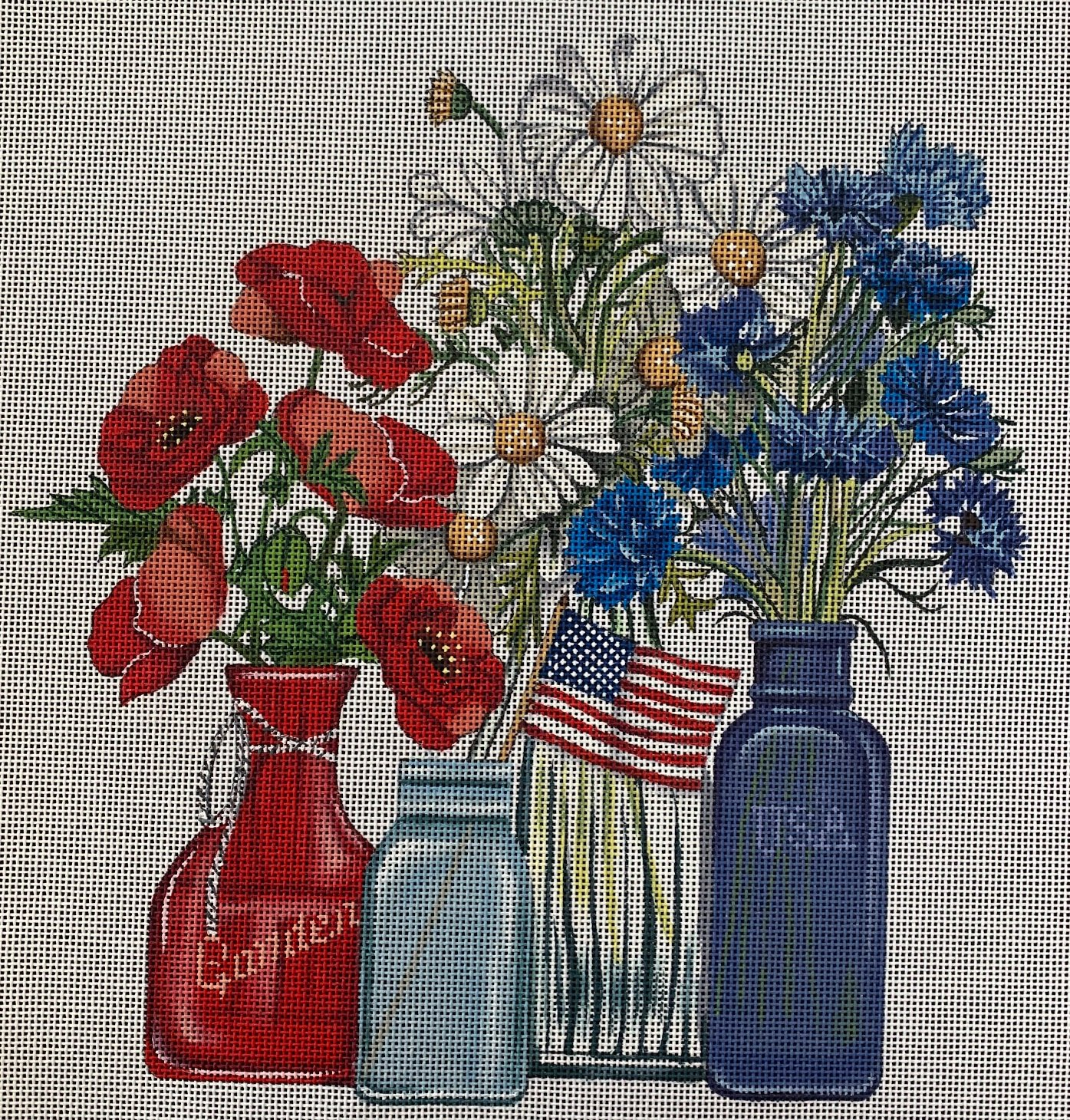 Red, White and Blue Bouquet