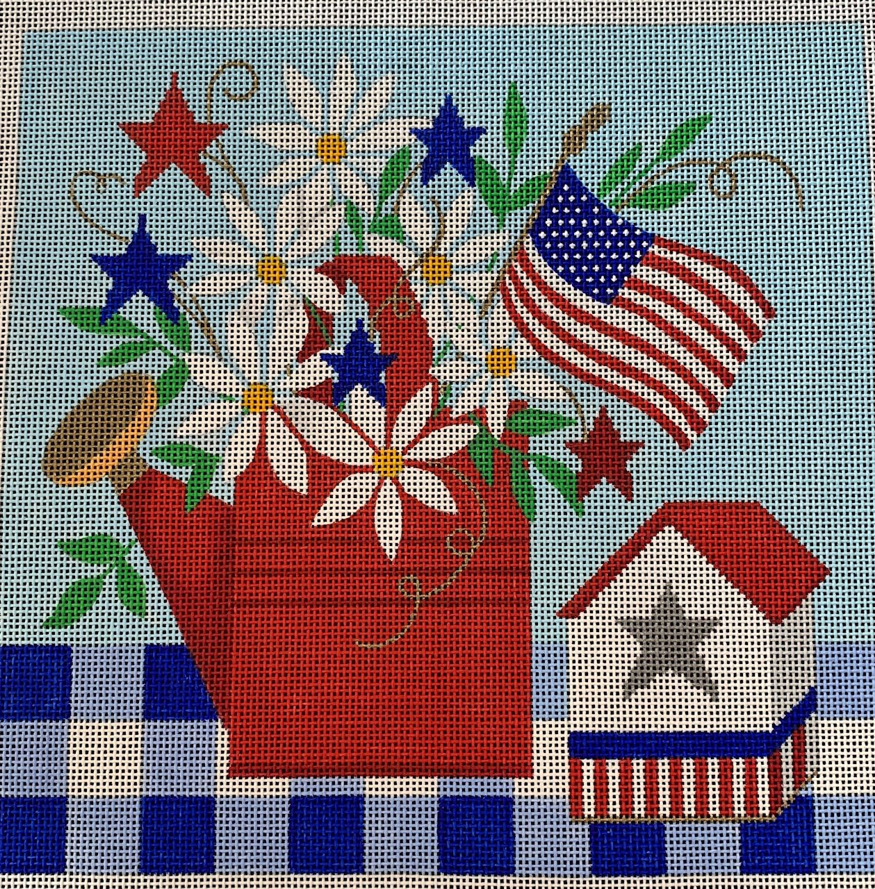 Patriotic Tablescape with Stitch Guide