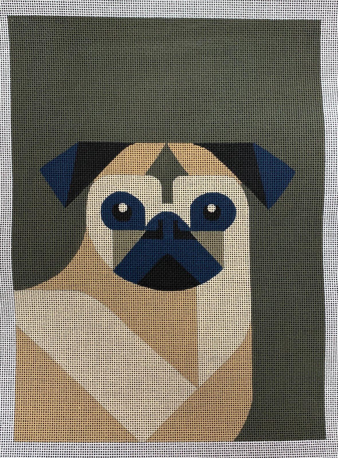 Blue Earred Pug Dog