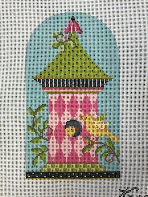 Pink Harlequin Birdhouse