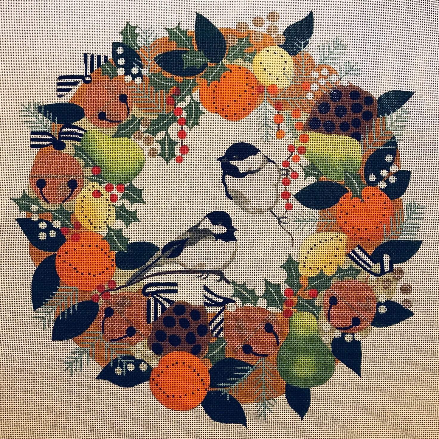 Chickadees Wreath