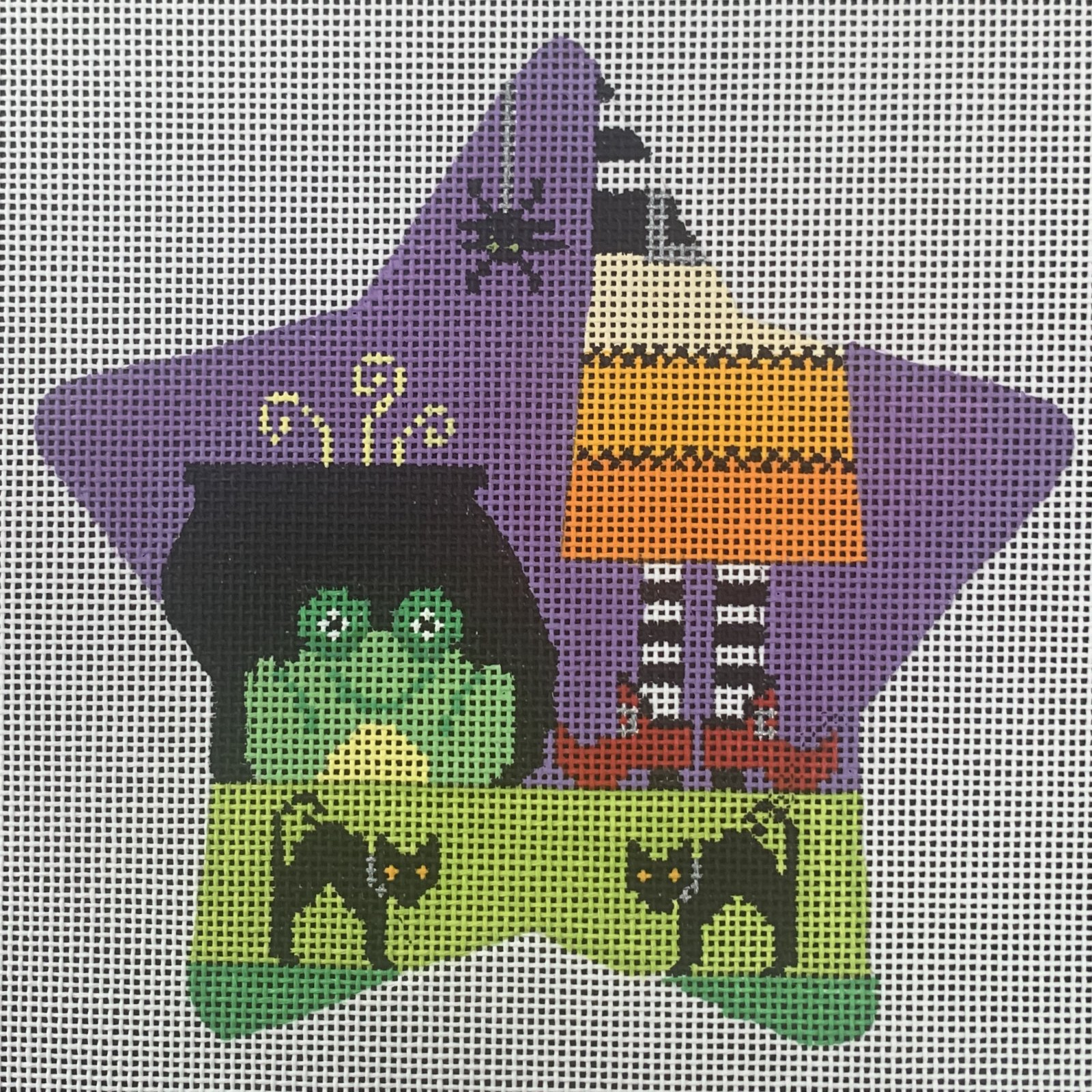 Spooky Star - Frog and Witch with Stitch Guide