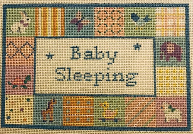 Patchwork Baby Sleeping