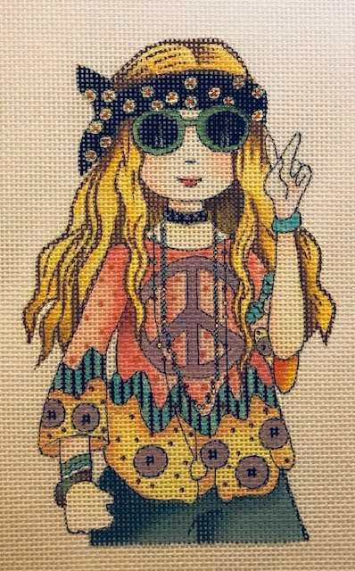 Hippie Girl with Stitch Guide