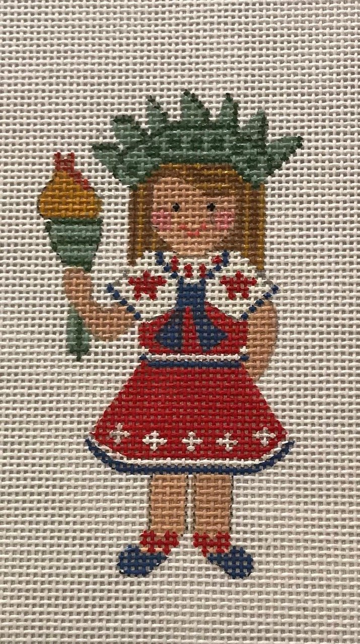 4th of July Girl Statue of Liberty with Stitch Guide