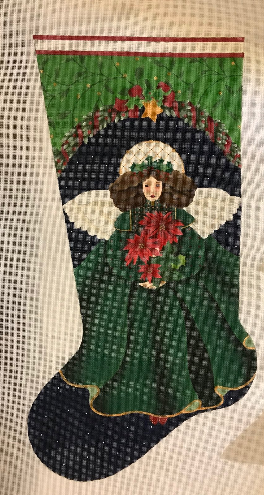 Poinsettia Angel Stocking
