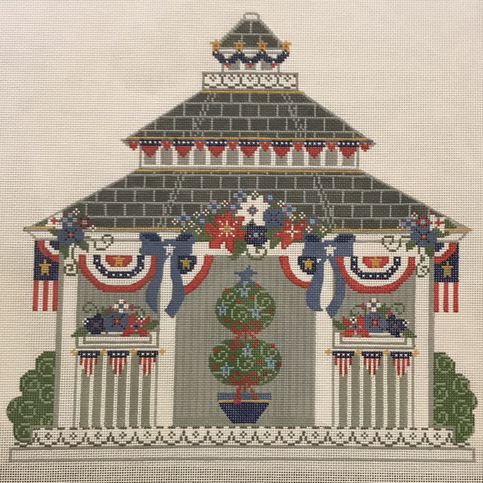 4th of July Gazebo with Stitch Guide