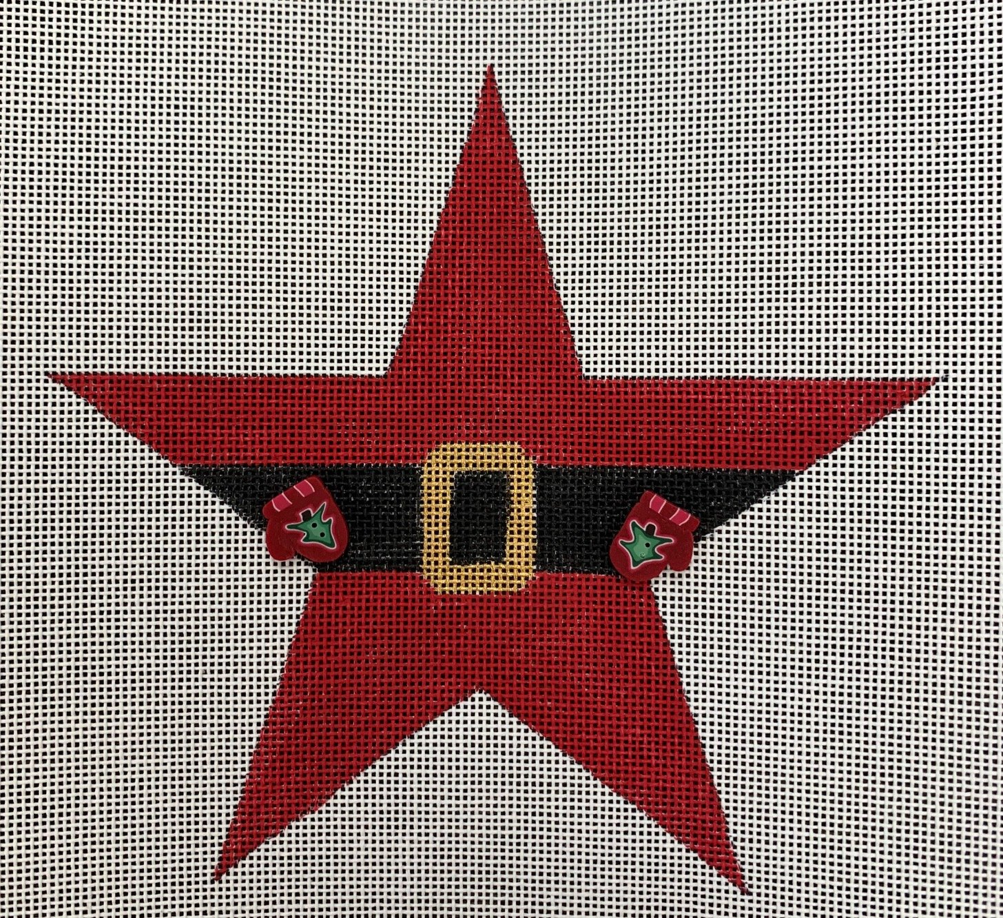Santa Star with Buttons