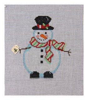 Snowman with Button (Mug)