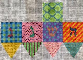 Bright Funky Patterns Dreidel