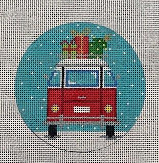 Christmas Micro Bus Leaving Ornament