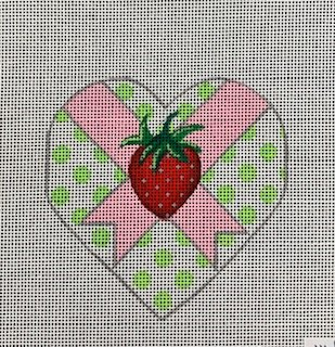 Strawberry Heart with Stitch Guide