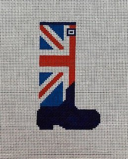 Wellie Boot: Union Jack in Red