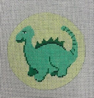 Green Dino Round
