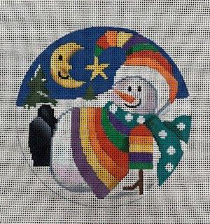 Rainbow Snowman Ornament