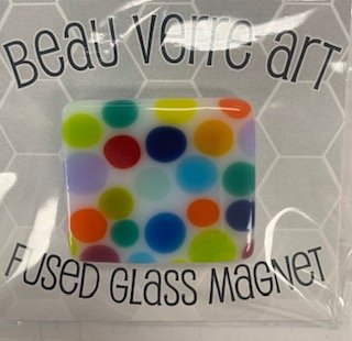 Glass Fused Needleminder Dots Square
