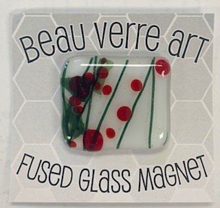 Glass Fused Needleminder Holiday