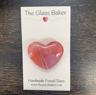 Fused Glass Heart Needleminder 1