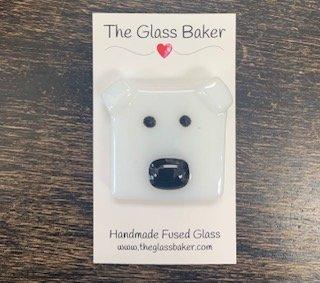 Fused Glass NM polar bear