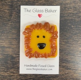 Fused Glass NM lion