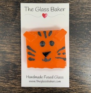 Fused Glass NM tiger