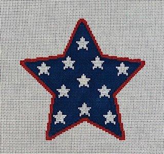 Star Ornament in Navy