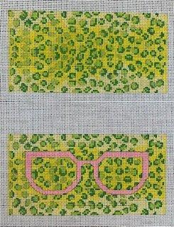 Leo Pink Eyeglass Case - 2 sides