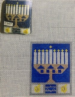Menorah with Stitch Guide