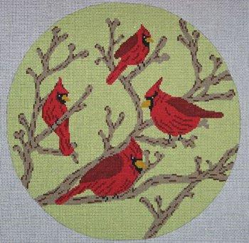 Four Cardinals on Green